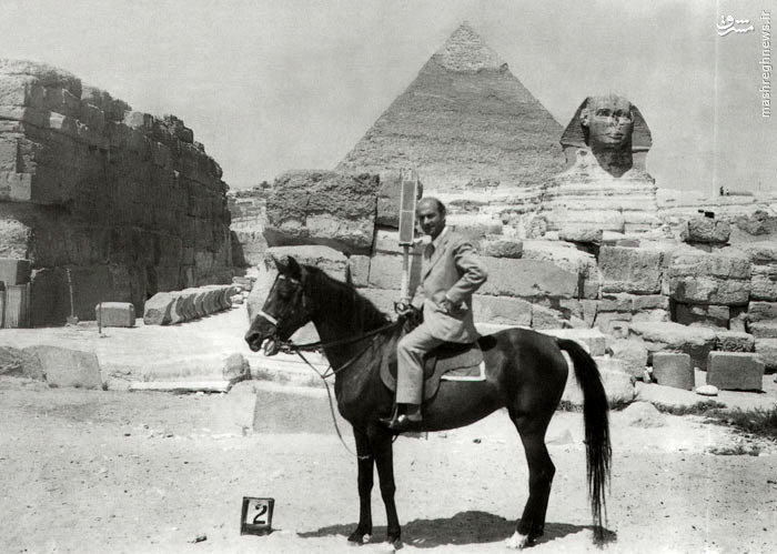 عکس یادگاری شریعتی در مصر