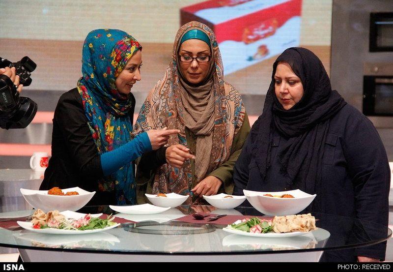 عکس/ مسابقه آشپزی دو بازیگر در تلویزیون