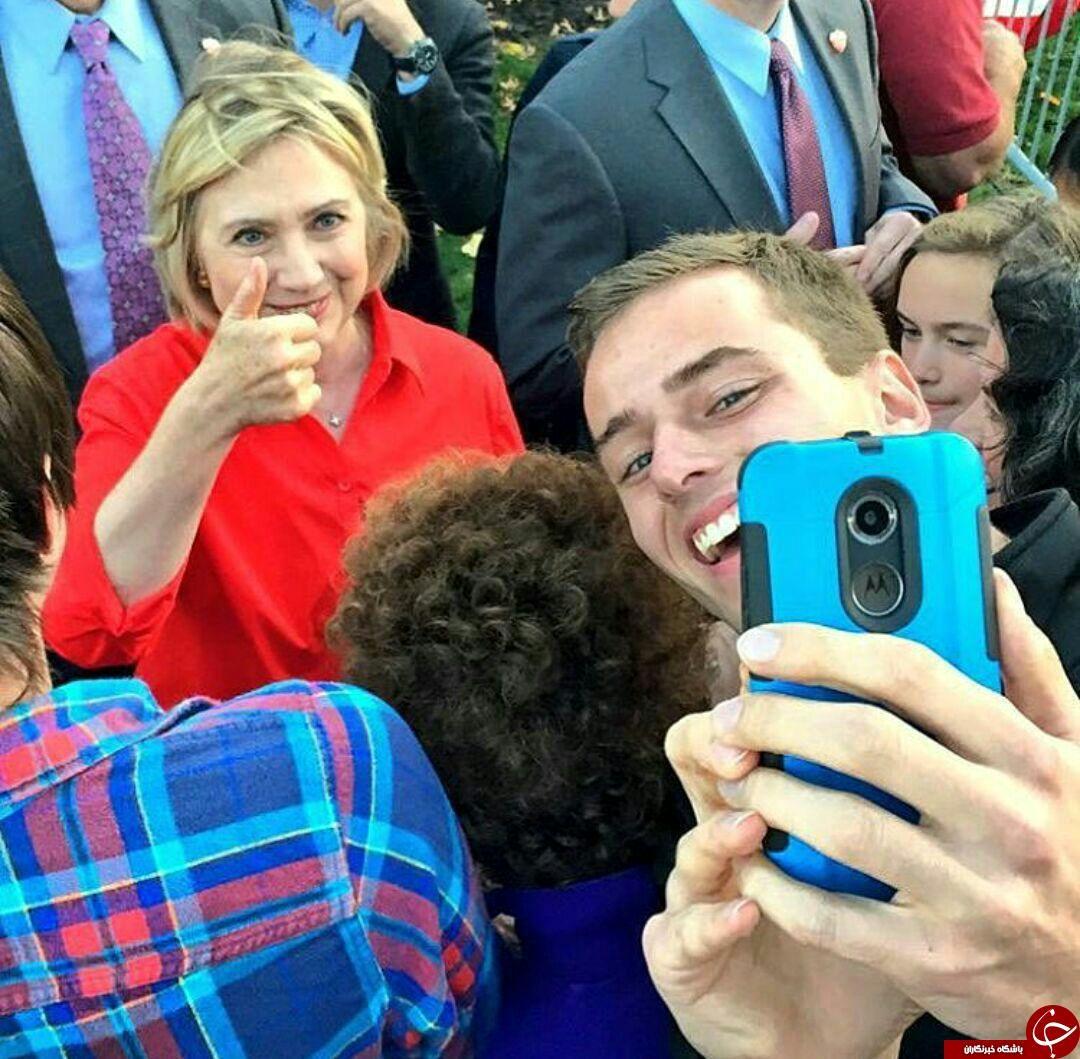 سلفی هیلاری کلینتون با هموطنانش +عکس