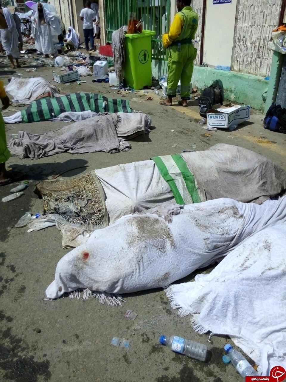 سلفی امداد رسانان با اجساد حادثه رمی جمرات + تصاویر