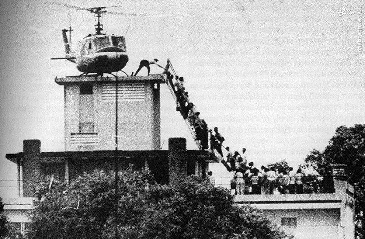 عکس/نیروهای آمریکایی این گونه از جنگ ویتنام فراری شدند