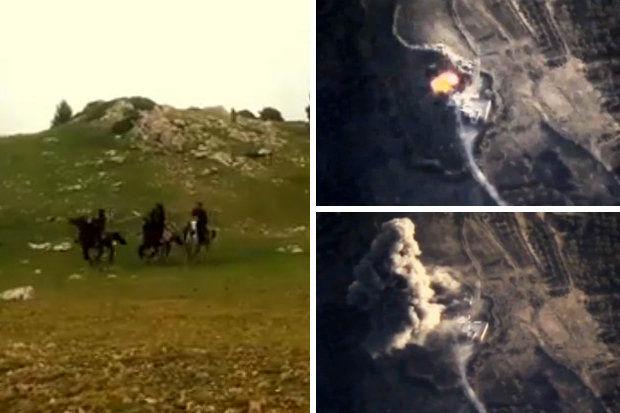 فرار داعشی ها با الاغ و اسب از حملات رعدآسای روسیه+ تصاویر